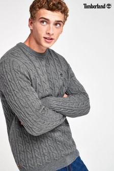 Timberland® Phillips Brook Lambswool Cable Crew Jumper