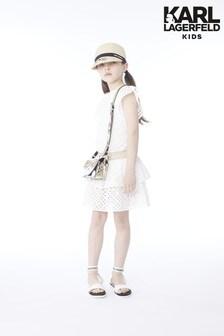 Karl Lagerfeld Kids White Pattern Dress