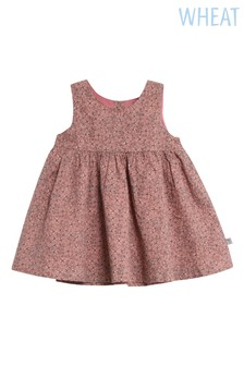Wheat Pink Wrinkled Pinafore