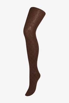 Leaf Patterned Cable Tights