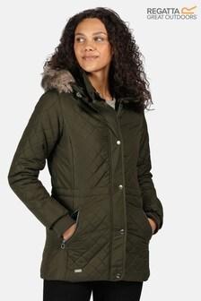 Regatta Green Zella Quilted Insulated Jacket