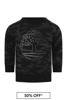 Baby Boys Camouflage Logo Sweater