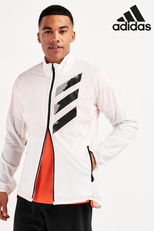 adidas White Agravic Wind Jacket