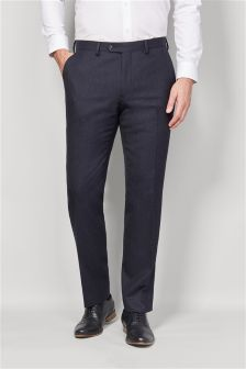 Signature British Wool Tailored Suit: Trousers