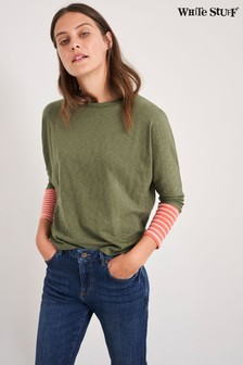 White Stuff Green Dolman Jersey T-Shirt