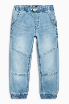 Jersey Denim Cuffed Pull-On Jeans (3mths-6yrs)
