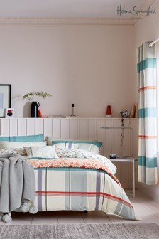 Helena Springfield Klint Cotton Check Duvet Cover and Pillowcase Set