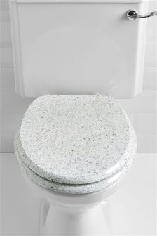 Pale Grey Stone Toilet Seat
