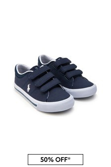 Ralph Lauren Kids Boys Navy Elmwood Trainers