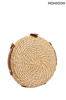 Monsoon Ladies Natural Serene Structured Round Bag