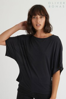 Oliver Bonas Black Knot Back Jersey Top