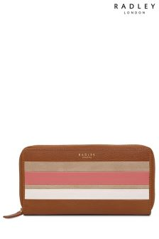 Radley Tan Wren Street Large Zip Around Matinee Purse