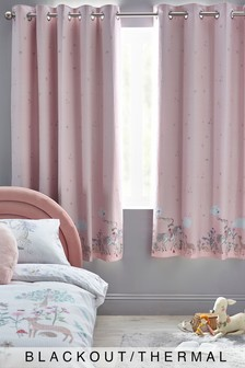 Story Book Woodland Cotton Waffle Eyelet Blackout Curtains