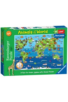 Ravensburger Animals Of The World 60 Piece Giant Floor Jigsaw Puzzle