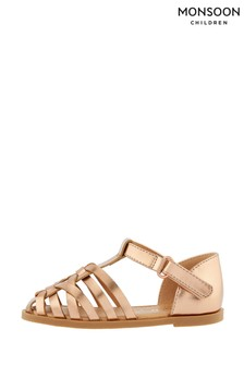 Monsoon Baby Rose Gold Caged Sandals