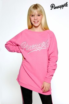 Pineapple Pink Oversized Fleece Sweat Top