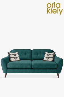 Orla Kiely Laurel Large Sofa with Walnut Feet