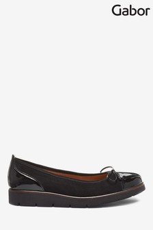 Gabor Black Evolution Suede Lack HT Shoes