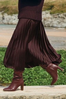 Emma Willis Satin Pleat Skirt