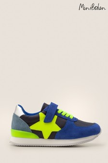 Boden Blue Suede Trainers