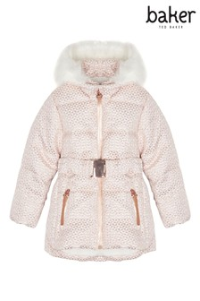 baker by Ted Baker Light Pink Geo Jacquard Jacket