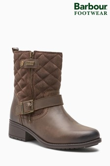 Barbour® Brown Sienna Quilted Strap Boot