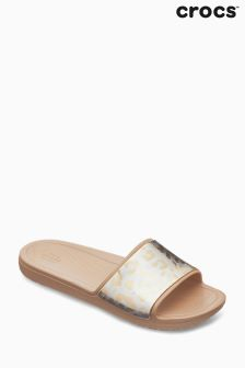 Crocs™ Gold Metallic Slider