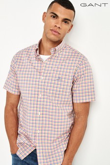 GANT Broadcloth 3 Colour Gingham Short Sleeve Shirt