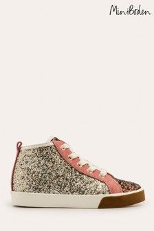 Mini Boden Gold High Top Shoes