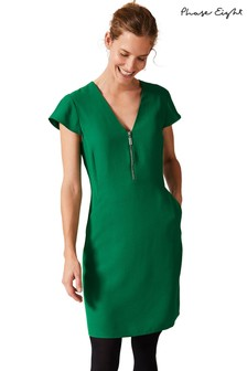 Phase Eight Green Victoria Zip Dress