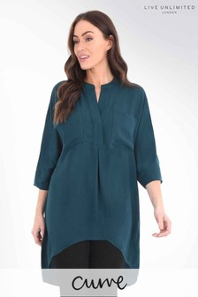 Live Unlimited Curve Hi Lo Pocket Shirt