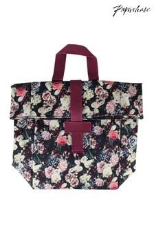 Paperchase Dark Floral Folded Lunchbag