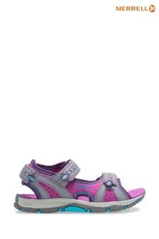 Merrell® Kids Panther 2.0 Sandalen, grau und pink