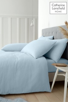 Catherine Lansfield Brushed Cotton Duvet Cover and Pillowcase Set