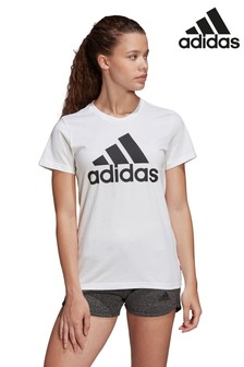 adidas White Badge Of Sport T-Shirt