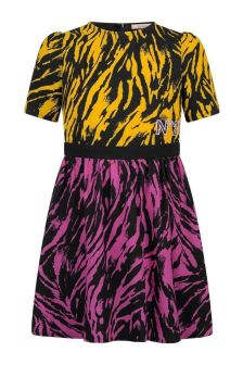 Girls Multicoloured Zebra Dress