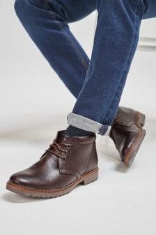 Borg Lined Chukka Boots