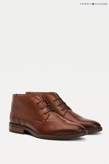 Tommy Hilfiger Brown Essential Leather Boots