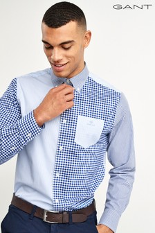 GANT Preppy Essentials Broadcloth Mixed Panels Shirt