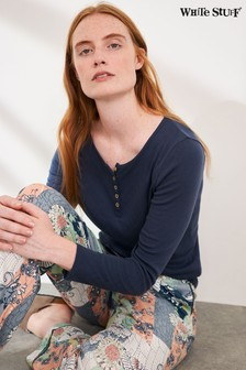 White Stuff Navy Harriet Henley Top