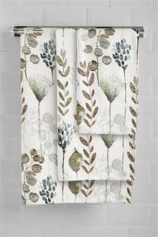 Полотенце с цветочным рисунком
