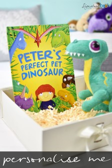 Personalised Perfect Pet Dinosaur Book And Plush Toy Gift Set by Signature Book Publishing