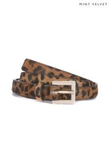 Mint Velvet Leopard Print Belt
