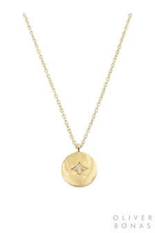 Oliver Bonas Gold Plated Comet Star Gold Plated Pendant Necklace