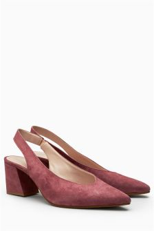 Suede Point Slingbacks