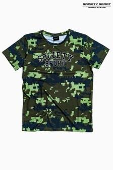 Society Sport Kids Camo Tetris T-Shirt