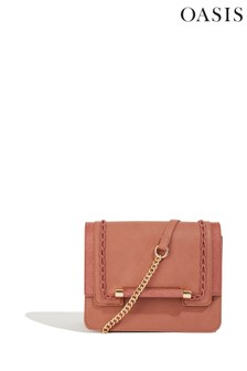 Oasis Pink Patched Box Chain Bag