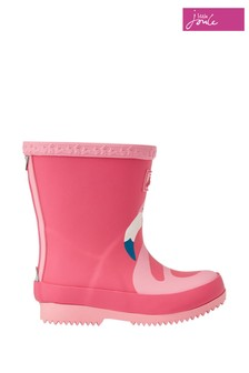 Joules Pink Baby Girls Print Wellies