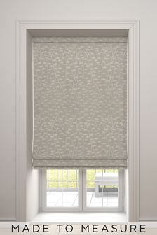 Coraline Oyster Natural Made To Measure Roman Blind