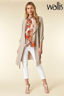 Wallis Stone Waterfall Duster Jacket